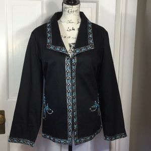 Victor Costa Occasion 1X Black Jacket with beads
